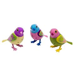 DigiBirds - 3 Pack Set of DigiBirds - Purple Set