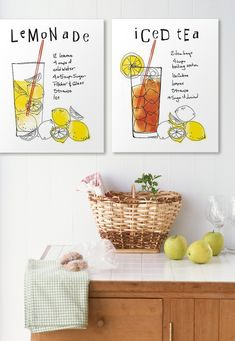 Who needs a recipe book when you have have them as wallart//