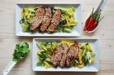 Kublanka vaří doma - Hlavní jídla/ kachní prsa s mangovým salátem
