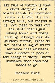Stephen King on Revision