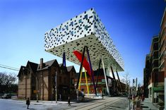 THis is the School of Design OCAD Building in Toronto Canada. OCD might be a better description! LOL. Interesting, to say the least