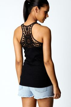 Love love love knit/crochet/lace backed shirts or dresses!