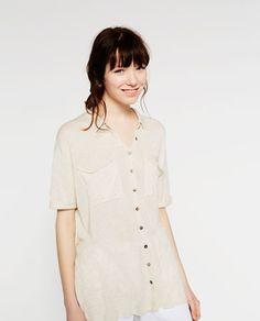 Image 2 of LINEN SHIRT from Zara