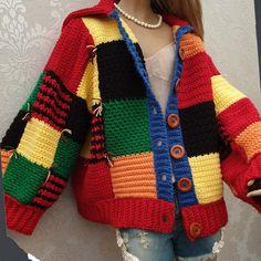 Gilet Crochet, Crochet Cardigan Pattern, Knit Crochet, Crochet Clothes, Diy Clothes, Crochet Designs, Crochet Patterns, Styles Harry, Crochet Mignon