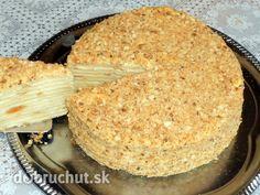 CESTO: 100 g maslo Flora GOLD 300 g maslo-margarín 2 ks vajcia 150 ml voda 700 g hladká múka špeciál štipiek soľ 3 PL brandy alebo koňaku 1 PL ocot PLNKA: 6 ks žĺtky 1/4 litrov mlieko 300 g krupicový cukor 1 ks vanilkový cukor 200 g maslo 1 PL maslo Flora GOLD 100 g hladká múkaFotorecept: Napoleon torta