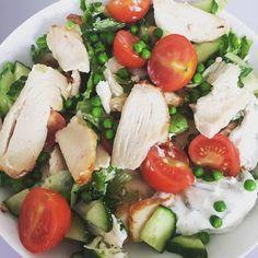 """Chicken salat  #livsstilsændring #chicken"" Photo taken by @cvetterli.dk on Instagram, pinned via the InstaPin iOS App! http://www.instapinapp.com (06/26/2015)"