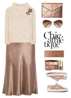 """""""Vince skirt"""" by juliehalloran ❤ liked on Polyvore featuring Vince, Tom Ford, Kate Spade, Rebecca Minkoff, Victoria Beckham, Urban Decay, Yves Saint Laurent and Superga"""