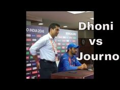 Dhoni rips into journalist after India vs Bangladesh #WT20 Match - My Videos Update