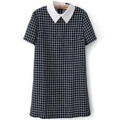 Plaid Collar Dress $20