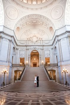 The destination wedding of Kyle and Julie at San Francisco City Hall.