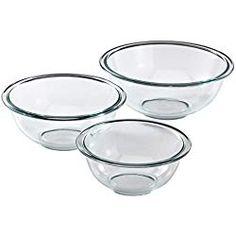 The Pyrex Glass Mixing Bowl Set is designed to make stirring and mixing quick and easy. Pyrex set includes one each of and glass mixing bowls. Made from pure Pyrex glass, these bowls are microwave, dishwasher, preheated oven, and freezer safe. Macarons, Enchilada Sauce, Cheese Stuffed Chicken, Nordic Ware, Mixing Bowls, Baking Tools, Baking Set, Baking Cakes, Almond Flour