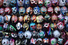 Mexican Wrestler Masks by bertrandom, via Flickr
