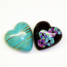 Shoogly Beads    Two Hearts Polymer Clay Beads    £3.00