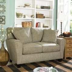 SOFAB Modern Love Seat - cute couch for small space Living Room Furniture, Home Furniture, Living Rooms, Furniture Showroom, Family Rooms, Apartment Living, Apartment Ideas, Apartment Therapy, Sectional Sofa With Recliner