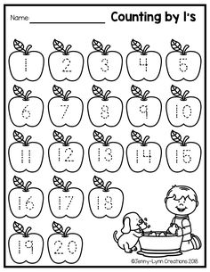 This fun fall themed math packet is perfect for teaching counting and cardinalit- Nursery Worksheets, Printable Preschool Worksheets, English Worksheets For Kindergarten, Kindergarten Math Worksheets, Numbers Preschool, Preschool Learning, Maths Paper, Material Didático, Alphabet For Kids