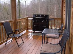 K2 Grill, Table, Chairs on Deck