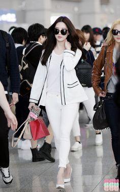 white denim.. love the concept of whole white