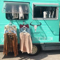 Inside the Wanderlust Factory mobile fashion boutique...  www.wanderlustfactory.com #fashiontrucks #fashiontruck #mobileboutique #boutiqueonwheels #gypsy #caravan #boutique #shopping #bohemian #diy #gypsyboutique #nomad #vagabond