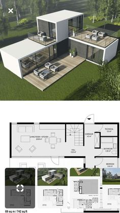 Sea Container Homes, Sea Containers, Casas Containers, Building A Container Home, Container House Design, Tiny House Design, Modern House Design, Container Pool, 40ft Container