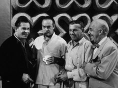 Left to right Milton Berle, Bob Hope, George Burns, and Ed Wynn Vintage Hollywood, Classic Hollywood, Ed Wynn, Funniest Pictures Ever, Jack Benny, Milton Berle, George Burns, Jewish Men, Bob Hope
