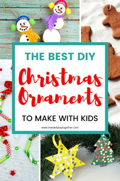DIY Christmas Ornaments for Toddlers and Preschoolers - Live Well Play Together Diy Christmas Ornaments For Toddlers, Christmas Crafts For Kids To Make, Preschool Christmas, All Things Christmas, Snow Activities, Craft Activities For Kids, Preschool Crafts, Photo Christmas Tree, Christmas Fun