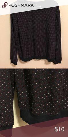 Blouse Black blouse LOFT Tops Blouses