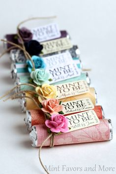 "Bridal shower wedding favor - ""Mint to be"" favors with personalized tag - designed to match your party                                                                                                                                                     More"