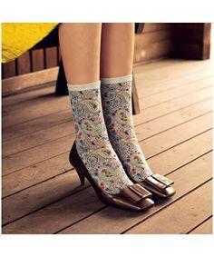 Paisley socks . . . Love fun socks!