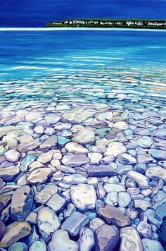 Margarethe Vanderpas - Fine Artist - About - Bruce Peninsula Landscape Art, Landscape Paintings, Underwater Art, Water Ripples, Lake Art, Canadian Art, Seascape Paintings, Wildlife Art, Amazon Art