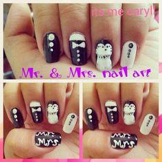 Mr. & Mrs. Nail art Nail Art, Nails, Finger Nails, Ongles, Nail Arts, Nail Art Designs, Nail, Nail Manicure