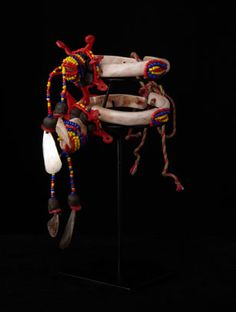 Trobriand Island ~ Papua New Guinea | Contemporary Mwali armbands; seldom worn - they were usually suspended from a braided rope. Mwali would be better described as currency, used for bride price & wealth exchanges. Originally they were circulated in pairs until the early 1900's.