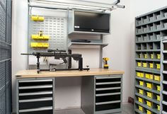 SecureIT Tactical Work,  Weapons Teardown and Reloading Benches|As guns are as diverse as the people who own them, it is not uncommon for a gunsmith to specialize in a particular type of weapon, or to work with specific types of clients. A high degree of specialization also ensures the highest level of quality and workmanship.  http://zombiemfg.com/gunsmithing/
