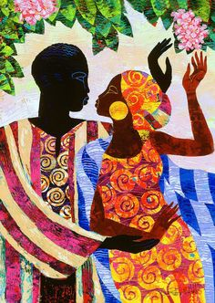 Black Art Prints and Posters African American Artist, American Artists, Afrique Art, African Quilts, African Art Paintings, Black Love Art, Black Artwork, Afro Art, Female Art