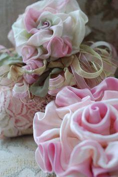 Extravagant silk roses.