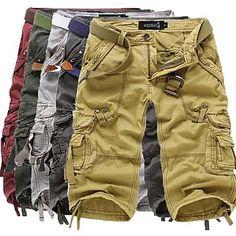 Men's Green/Red/Yellow/Gray Cotton Blend Pant,Shorts - choose 5 colors #Fashion