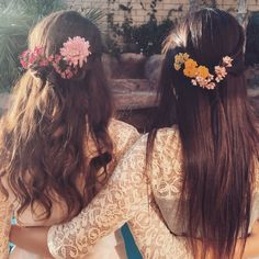 Half-up With a Braid and Pretty Petals