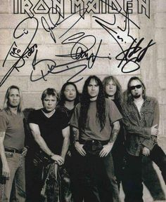 Fight for the front!!  Iron Maiden signed pic..  Wdsta1