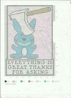 Everything's great ....Happy bunny