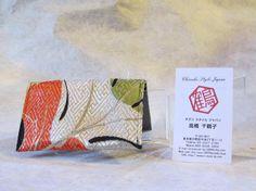 Japanese Credit Card Case Autumn Blast Kimono by KimonoTango, ¥1200