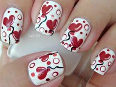 A classic red or pink nail is perfect for any time of the year (just about) so why not go a little crazy this Valentine and do something sugary sweet. I have picked out 20+ of my favorite cute Valentines nail designs to share with you. There are so many cute ones from super simple to a little more intricate to get