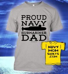 Navy Submariner Dad Shirts & Hoodies! NavyMomShirts.com #Navy #Submarines #Submariners #NavyDad *Matching Mom Shirts too!*