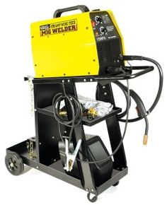 The Hot Max 175WFGK 175 Amp MIG Welder Kit comes with everything you need to start welding today including 175 Amp MIG welder, welding cart, Kevlar stitched grey leather welding gloves, and fixed front wide vision welding helmet with a #10 shade. The Hot Max MIG welder is ready to weld with or without shielding gas right out of the box.