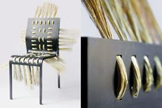 STRAW CHAIR - aluminium, straw