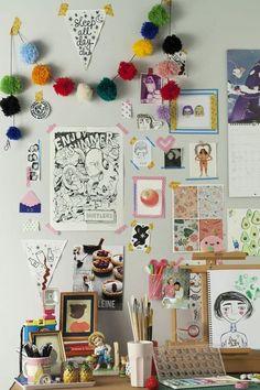 diy desk 31 Super Useful DIY Desk Decor Ideas to - Homesthetics - Inspiring ideas for your home. Uni Room, Dorm Room, Deco Retro, Room Goals, Desk Space, Diy Desk, Diy Home Decor, Bedroom Decor, Bedroom Ideas