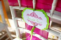 bridal party chair signs for the reception