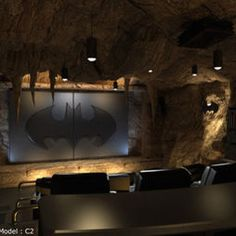 Man Cave Design Batman But With Comfier Seating And Pool Table Stuff