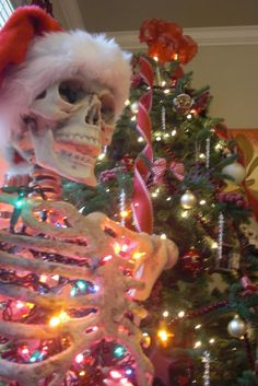 Everyone needs an articulated skeleton full of Christmas lights