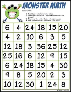 Math multiplication freebie - teachers take-out matematiikka: kertolasku ум Printable Math Games, Fourth Grade Math, 4th Grade Math Games, Math Intervention, Math Multiplication, Free Math, Homeschool Math, Guided Math, Math Facts