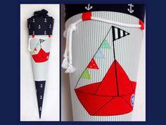 Schultüten - Schultüte MARITIM mit Segelboot - ein Designerstück von TURO bei DaWanda