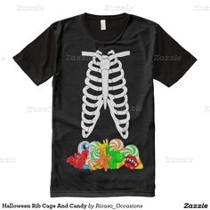 Halloween Rib Cage And Candy All-Over Print T-shirt